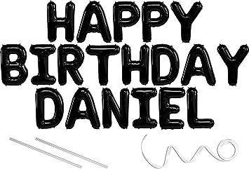 Amazon.com: Daniel, Feliz Cumpleaños Mylar Globo Banner – 16 ...