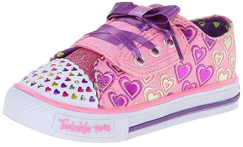 Skechers Shuffles Hopscotch - zapatilla deportiva de lona niña, color rosa, talla 26: Amazon.es: Zapatos y complementos