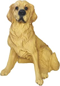 GAOBEI Golden Retriever Sitting Dog Figurine Resin Sculpture Outdoor Statues for Home Decor Gift for Indoor Outdoor Home Or Office Living Room(Golden Retriever)