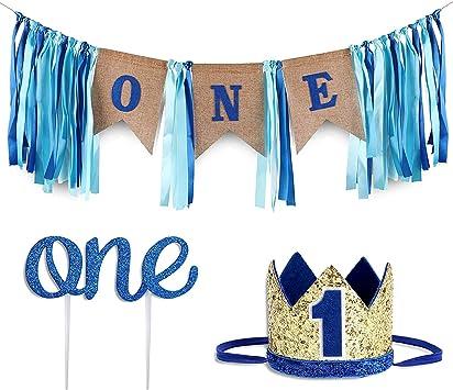 Fantastic Amazon Com Baby 1St Birthday Boy Decorations With Crown Baby Funny Birthday Cards Online Chimdamsfinfo