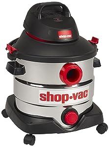 Shop-Vac 5989400 8 gallon 6.0 Peak HP Stainless Wet Dry Vacuum, Black