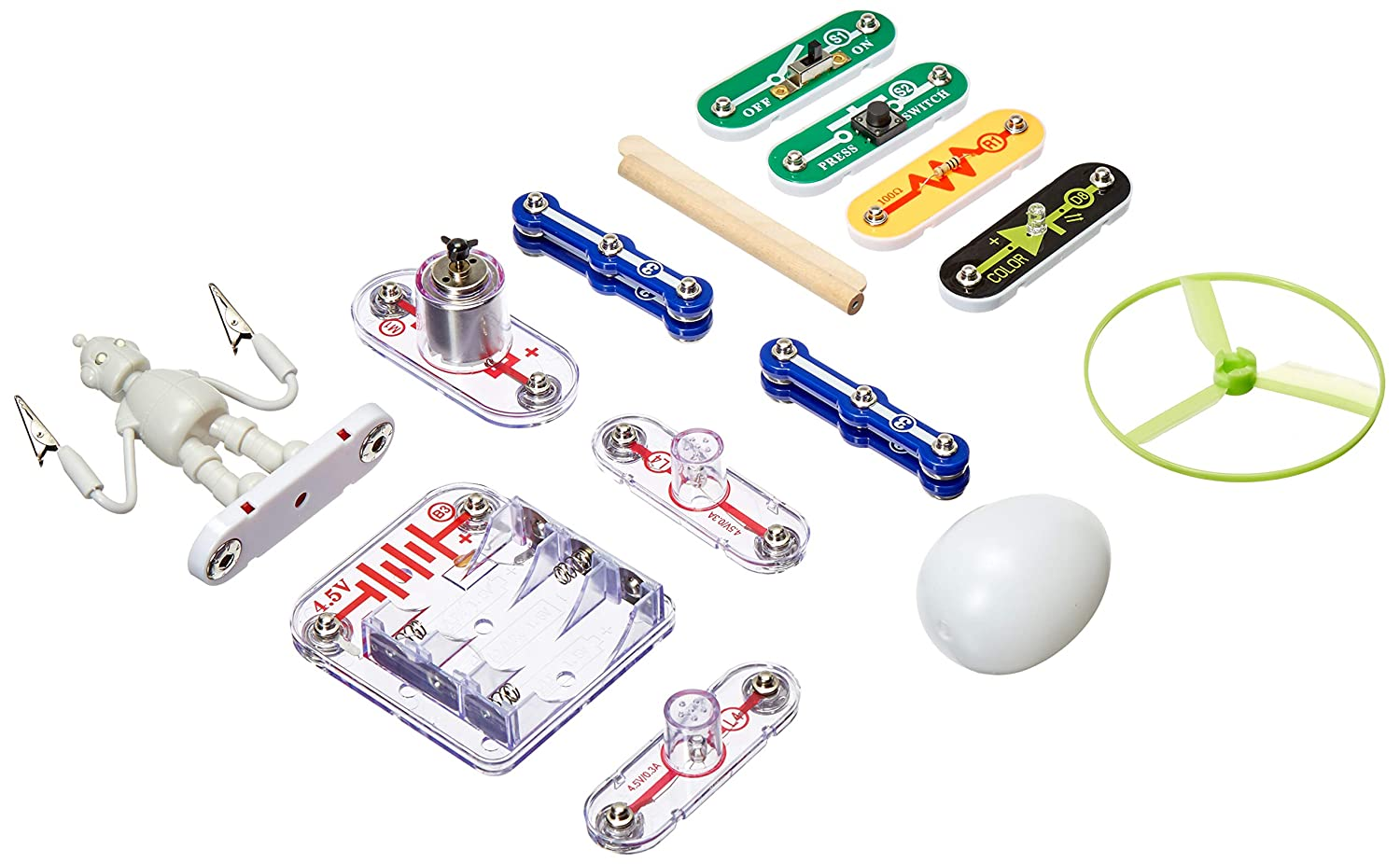 Learn about Electricity Snap Circuits Power Gifts for Girls /& Boys Educational Toy 19 Stem Experiments /& Activities STEM Authenticated ETA hand2mind 90741 Light Up A Robot Kids Science Kit Children /& Teens