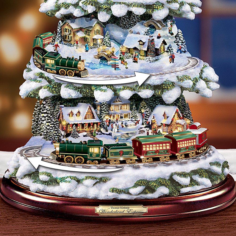 Thomas Kinkade Wonderland Express Animated Tabletop Christmas Tree With Train by Hawthorne Village by Hawthorne Village (Image #2)