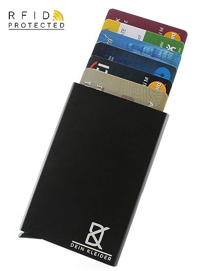 DEIN KLEIDER Minimalist Design Anti-Theft RFID Metal Card Wallet ...