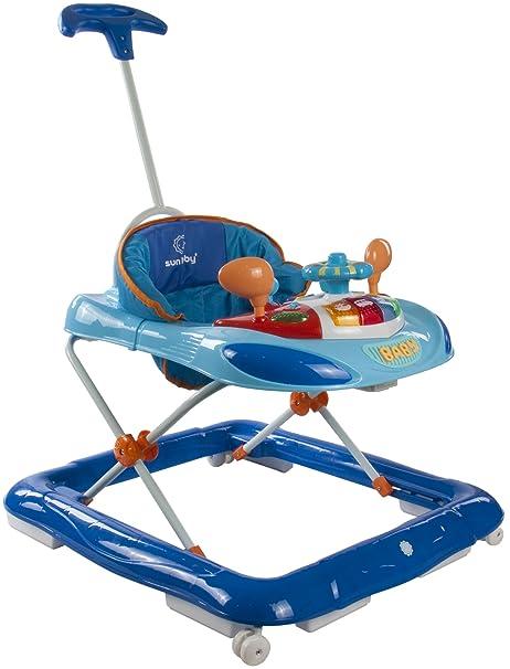 Sun Baby Walker - Andador con volante y barra de empuje, color ...