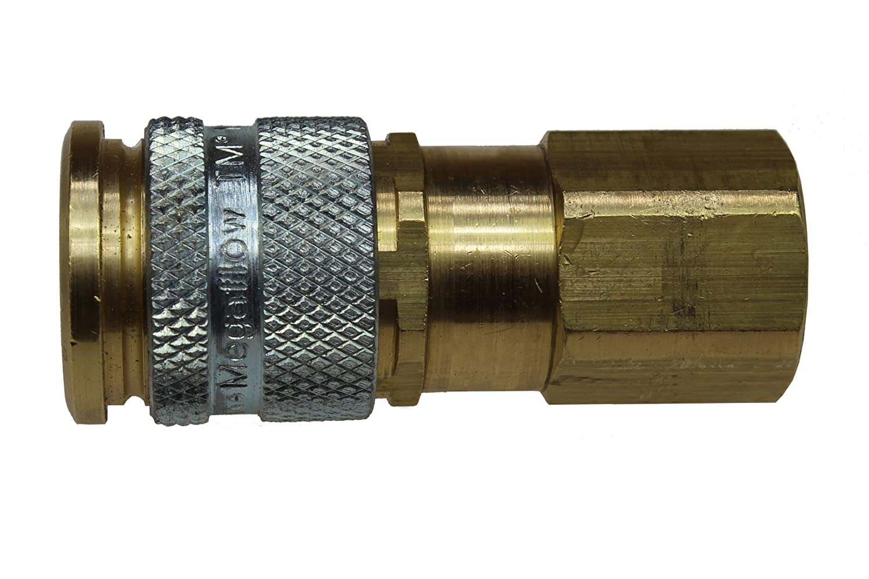 Female 3//8-Inch NPT Coilhose Pneumatics 111 1//4-Inch Body Size Megaflow Automatic High Flow Coupler