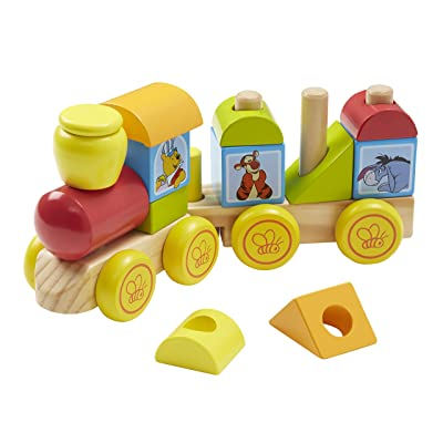 Melissa & Doug Disney Baby Winnie the Pooh Wooden Stacking Train (14 pcs): Melissa & Doug: Toys & Games