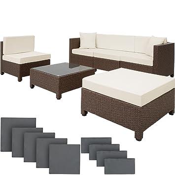 TecTake Hochwertige Aluminium Luxus Lounge mit 2 Bezugssets Poly ...