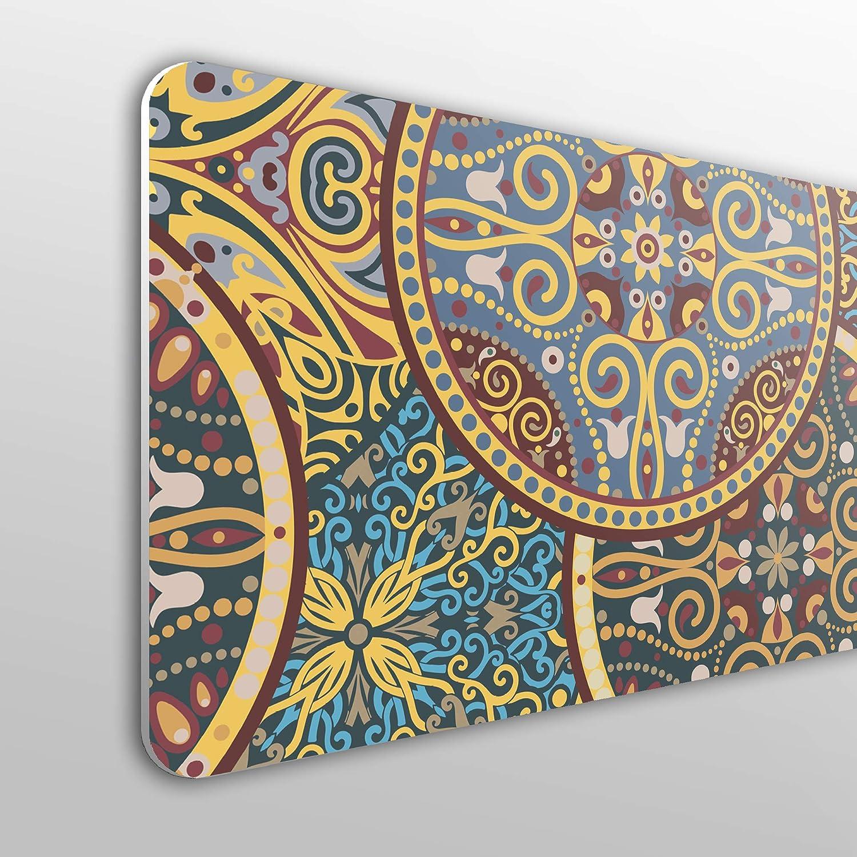 Testiera per letto in PVC economica decorativa motivo a pois colorati varie misure Megadecor