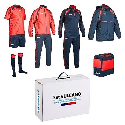 Amazon.com: GEDO Set Vulcano Soccer Training Kit, Navy with ...