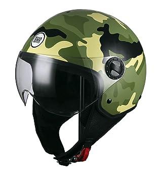 BHR - Casco de moto Demi-Jet Línea One 801 - Diseño camuflaje - Color