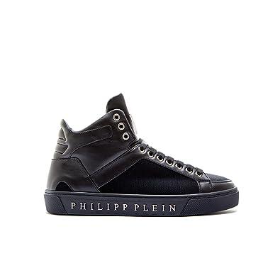 3b30c4a8d61 Philipp Plein Homme A17smsc07330291 Noir Cuir Baskets Montantes ...