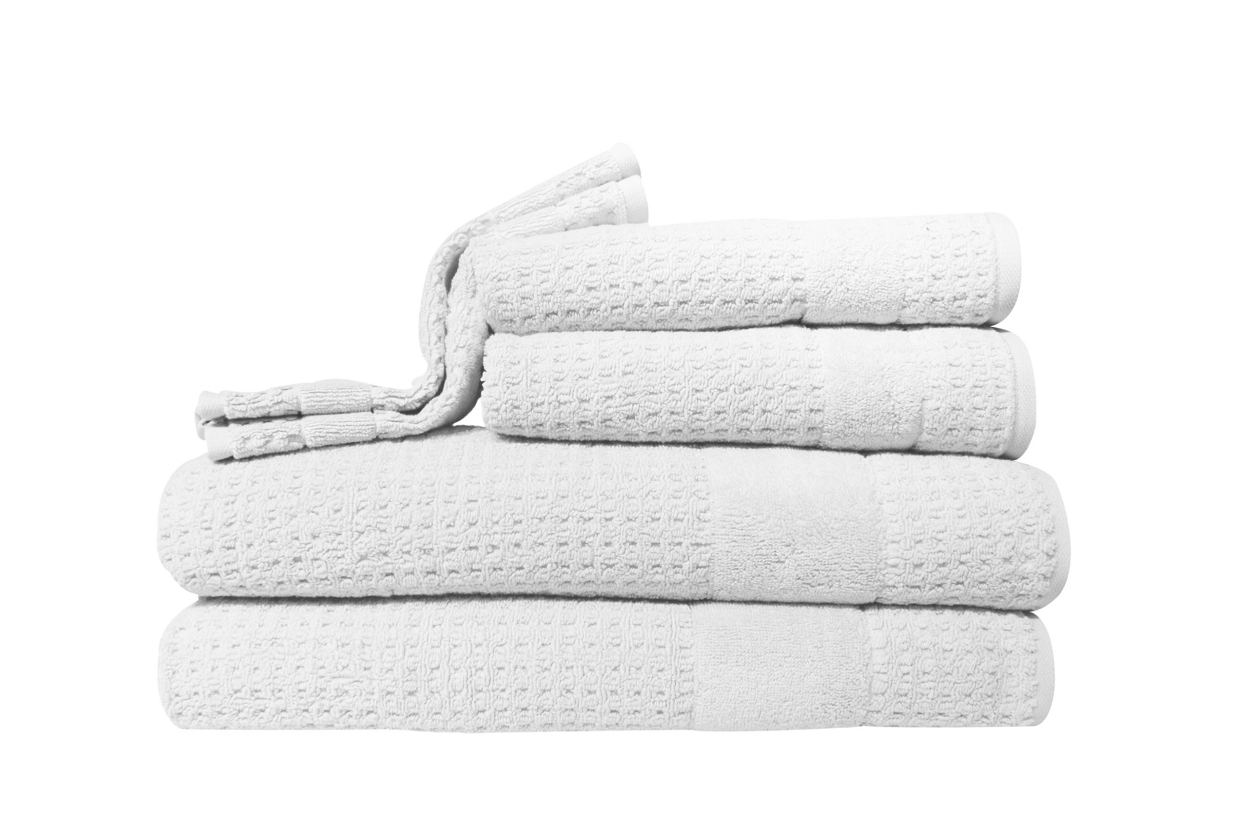Kassatex Hammam Towel, White, Set of 6