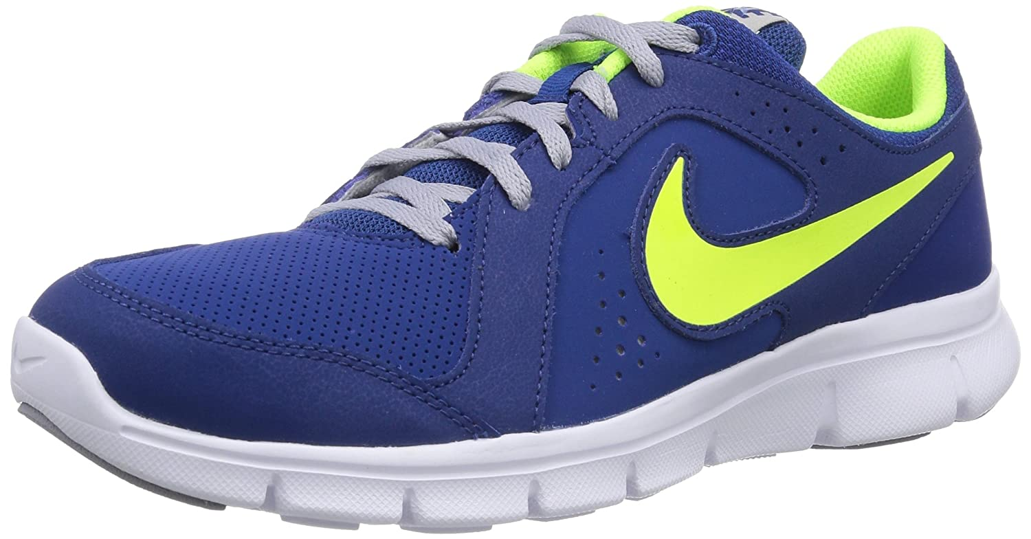 Nike Flex Experience Leather, Zapatillas Running para Hombre, Gym Blue Volt Wolf Grey White, 38 EU: Amazon.es: Zapatos y complementos