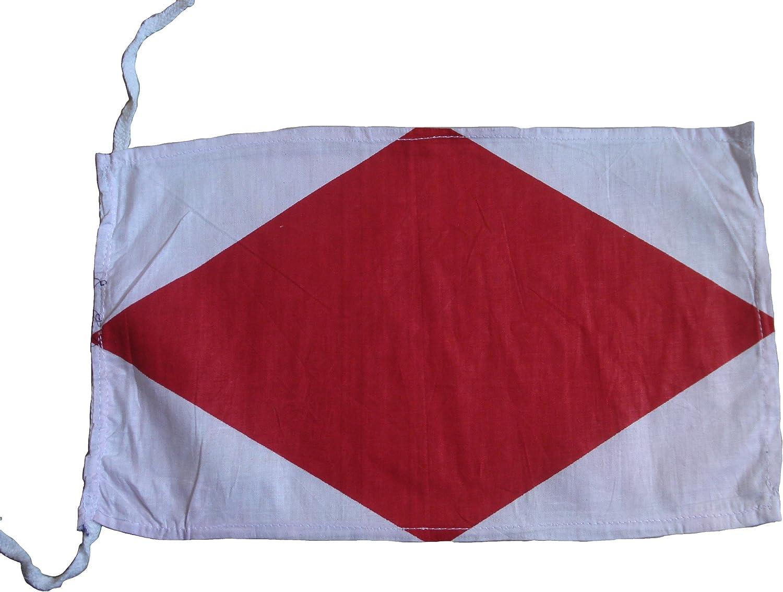 """Marine Code 8/"""" X 13/"""" Naval Signal Flag Marine Code F Nautical // Boat"""