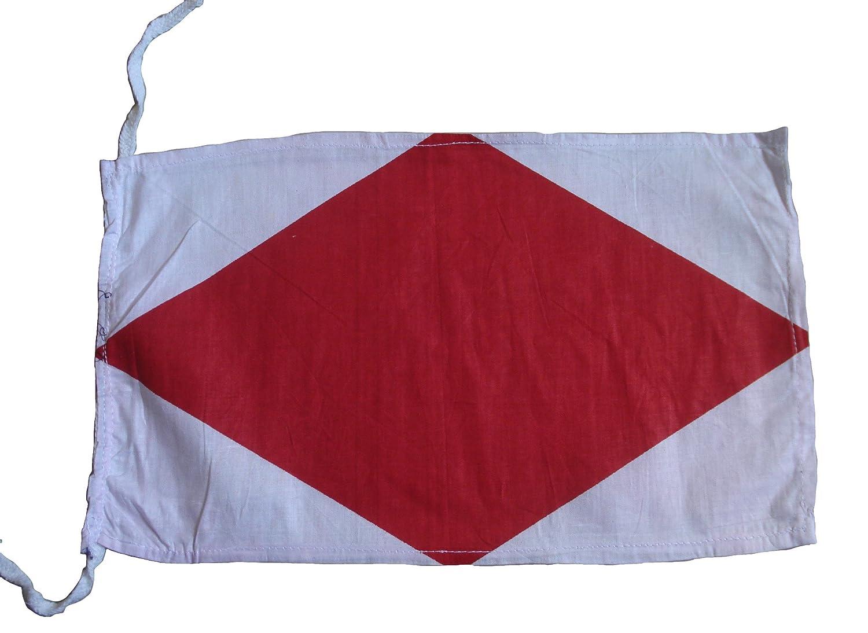 Brass Blessing F - International Maritime Signal Code Flag, 100% Cotton, 8