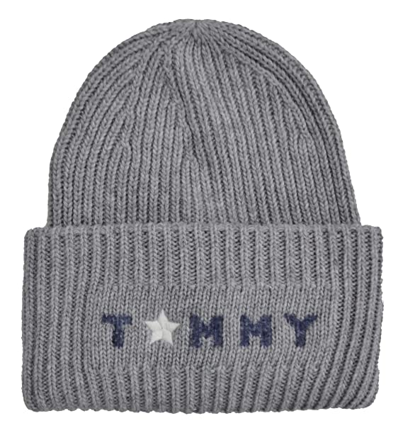 ada3b9cd Image Unavailable. Image not available for. Colour: Tommy Hilfiger Men's  Beanie Grey Light Grey One Size