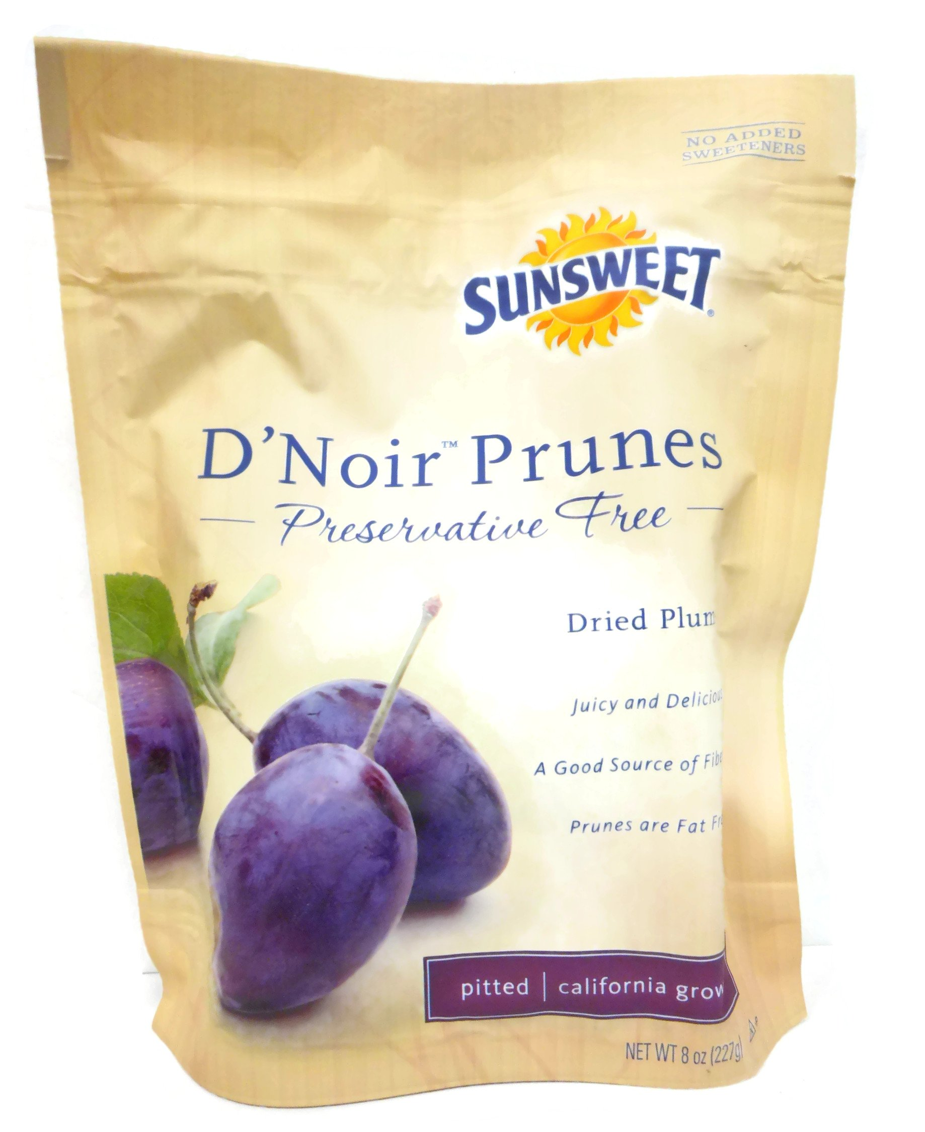 Sunsweet D'Noir Prunes in 8 oz Bag (Case of 12)