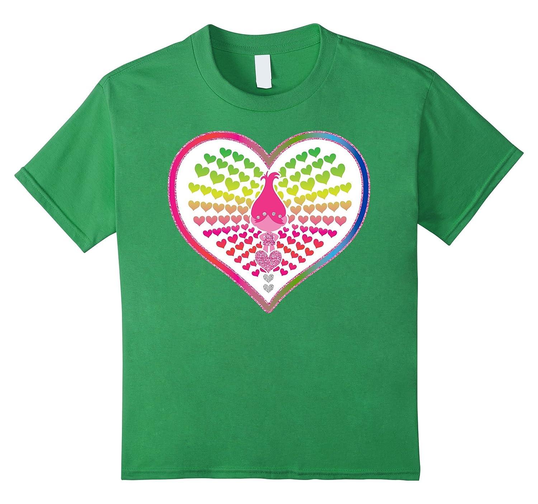 DreamWorks Trolls Rainbow Hearts T Shirt-Veotee