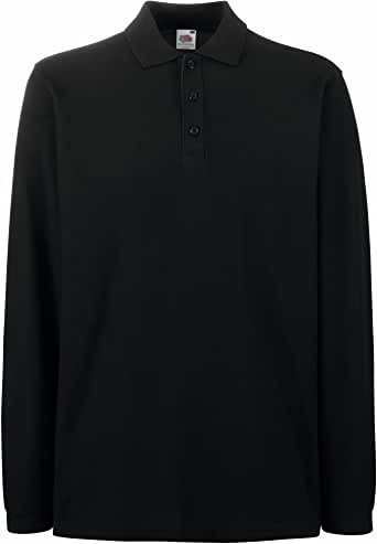 Fruit Of The Loom Mens Premium Long Sleeve Polo Shirt