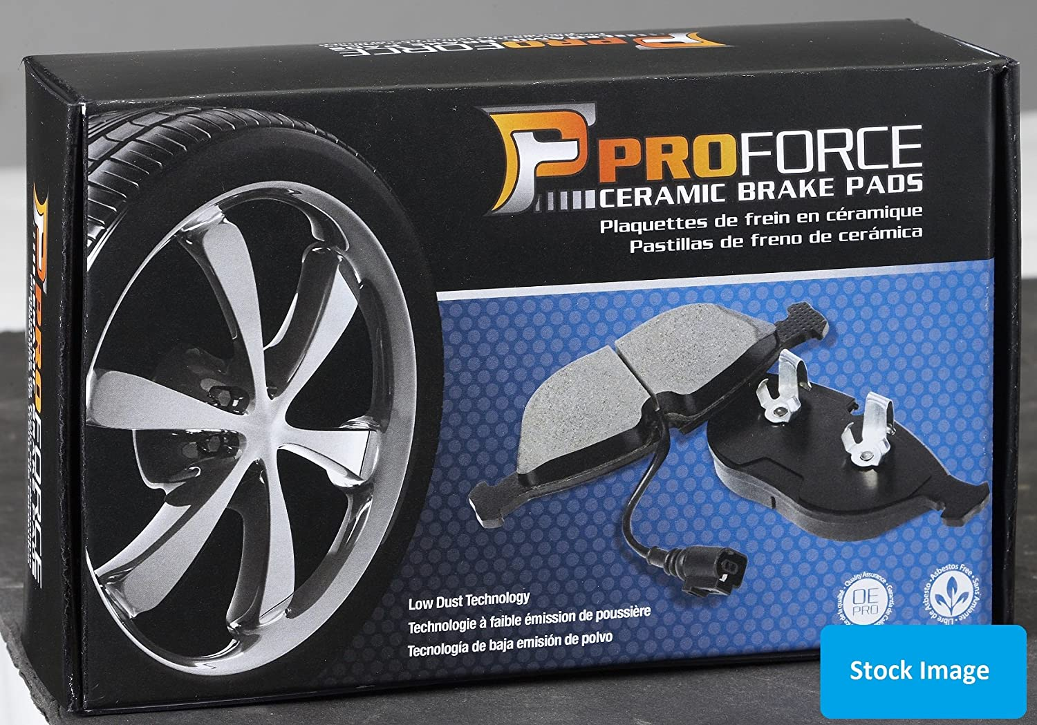 Stirling Ceramic Brake Pads with 2 Years Manufacturer Warranty Both Left and Right 2017 For Ford Escape Rear Set
