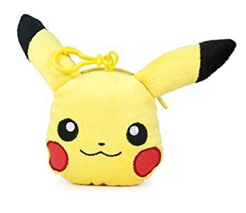 Famosa Softies - Pokèmon Monedero, peluche Pikachu, 12 cm, color amarillo (Famosa 760015202)