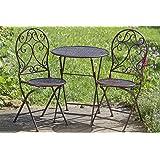 Gartentisch rund metall antik  Amazon.de: Terrassen Set aus Eisen Antik Design besteht aus 1 ...