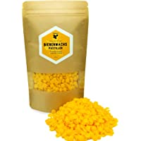 beegut Cire d'abeille Naturelle et Pure - 200 g de Cire d'abeille Jaune, Convient pour Les pâtes Naturelles et la Fabrication de Bougies