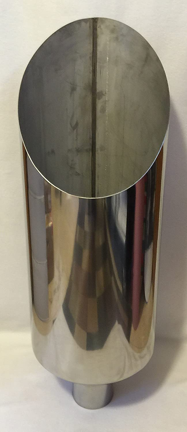 "7/"" Stainless Steel Diesel Exhaust Stack 5/"" inlet 36/"" Long Rolled Tip Stacks"
