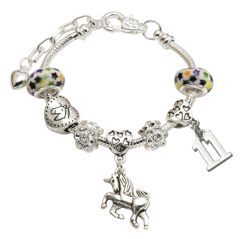 Jewellery Hut pour Fille Licorne Anniversaire Bracelet /à Breloques avec bo/îte Cadeau/-//Âge 1//à 11/Disponible