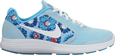 wholesale dealer 8919b f4963 Image Unavailable. Image not available for. Color  Nike Girl s Revolution 3  Print (GS) Running Shoe ...