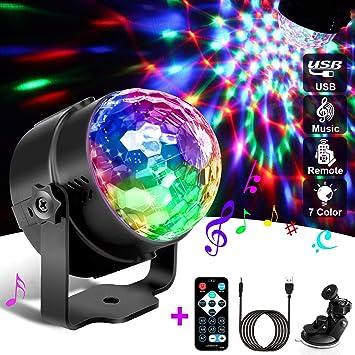 Discokugel, Discokugel Kinder, Led Disco Party Licht Disco Lichteffekte Mit  Fernbedienung fürKinder, Kinderzimmer, Partei, Geburtstagsfeier, DJ, ...