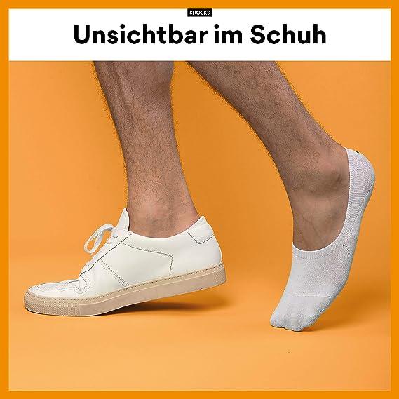 fantasmini invisibile 6 paia calzini corti Sneaker calzini da uomo e donna nero grigio rosa dimensione: 35-50 colore: bianco Snocks blu