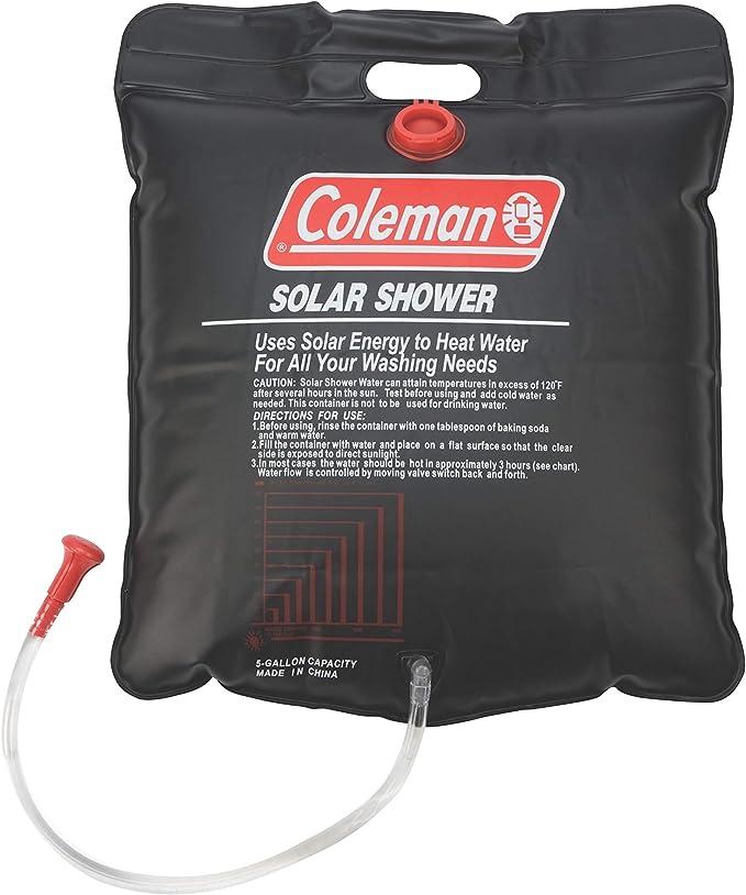 Portable Outdoor Solar Shower Bag Camp Shower Bag Set 5 Gallons//20L for Camping