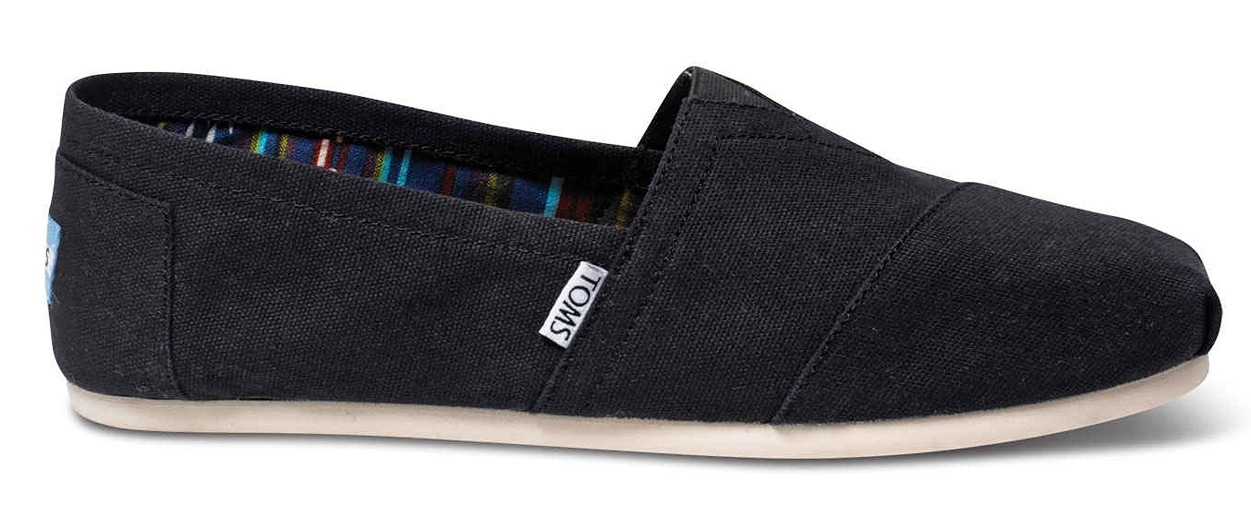 TOMS Men's Alpargata Canvas Black Ankle-High Flat Shoe - 11M