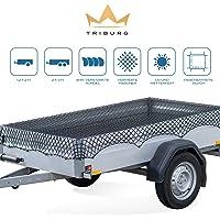 TRIBURG® Aanhangernet Rekbaar voor aanhangwagens met de afmetingen 1x2 m tot 2x3 m - dichtgemaasd met rubberen koord…