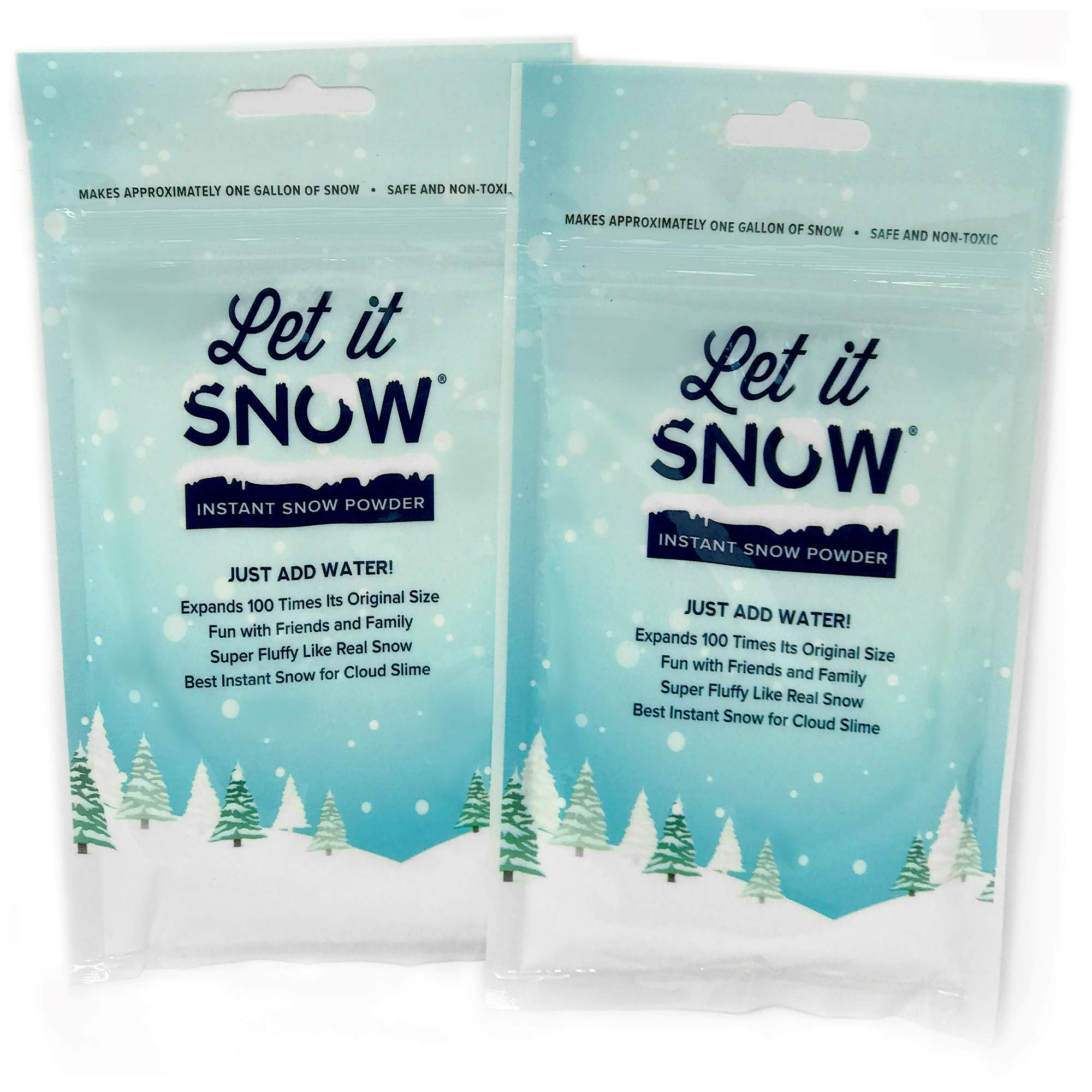 Let it Snow Instant Snow Powder for Slime - Mix Makes 2 Gallons of Fluffy White Fake Snow For Slime - Best Instant Snow for Slime, Cloud Slime and Frozen Birthdays - Looks and Feels Like Real Snow