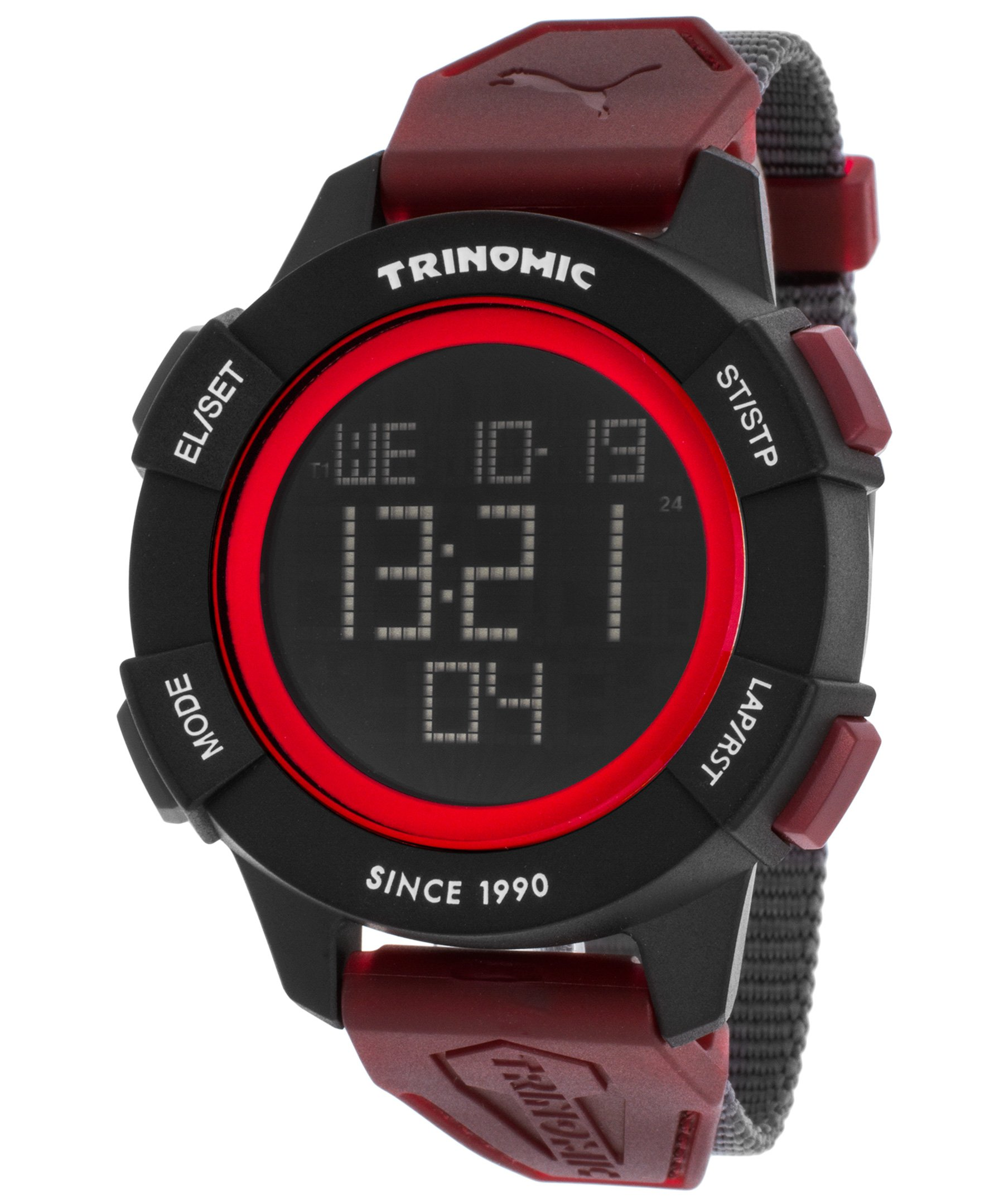 PUMA Unisex PU911271003 Trinomic Red Digital Display Watch by PUMA