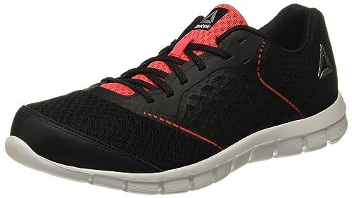c423e440928fc5 Reebok Men s Guide Stride Run Blk Glow Red Metsil Wht Running Shoes-