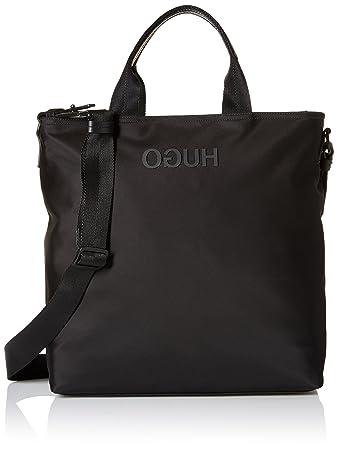 64798e944a Amazon.com: HUGO by Hugo Boss Men's Record Nylon Tote Bag, black, One Size:  Clothing