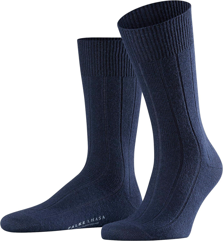 Falke Men's Lhasa Rib Sock, Black, 1 Pair