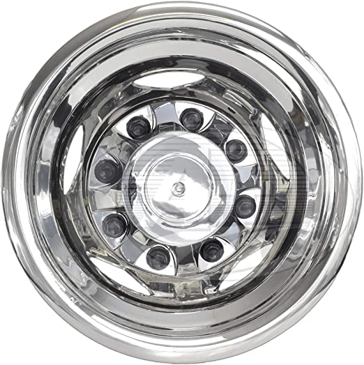 CS18N 17 Inch Stainless Steel Dually Wheel Simulator Set for 2011 Current GM//Chevy 3500HD A