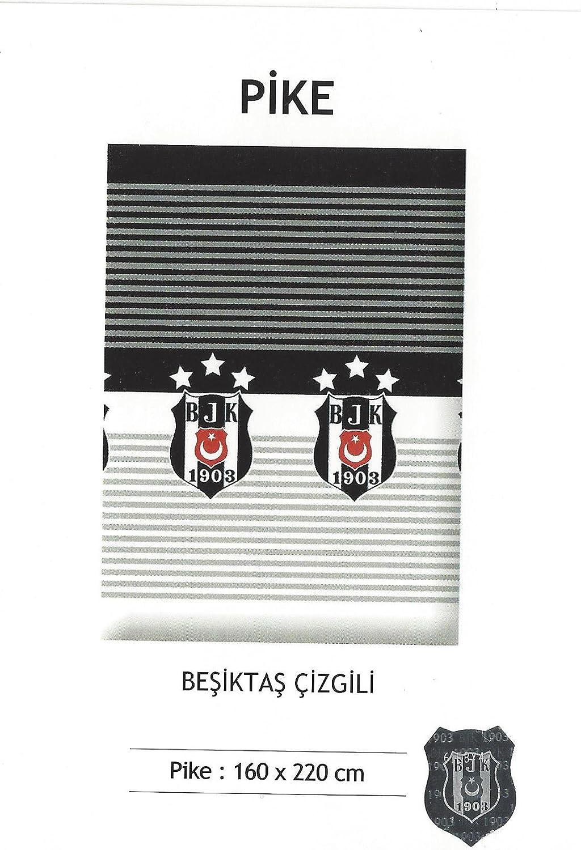 Besiktas Istanbul Fan Tagesdecke Bettüberwurf/Beşiktaş Pike BJK 1903 Çizgili/original lizenziert Zorluteks