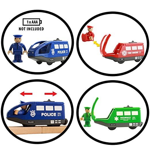 Amazon Com On Track Usa Battery Operated Action Rescue Trains