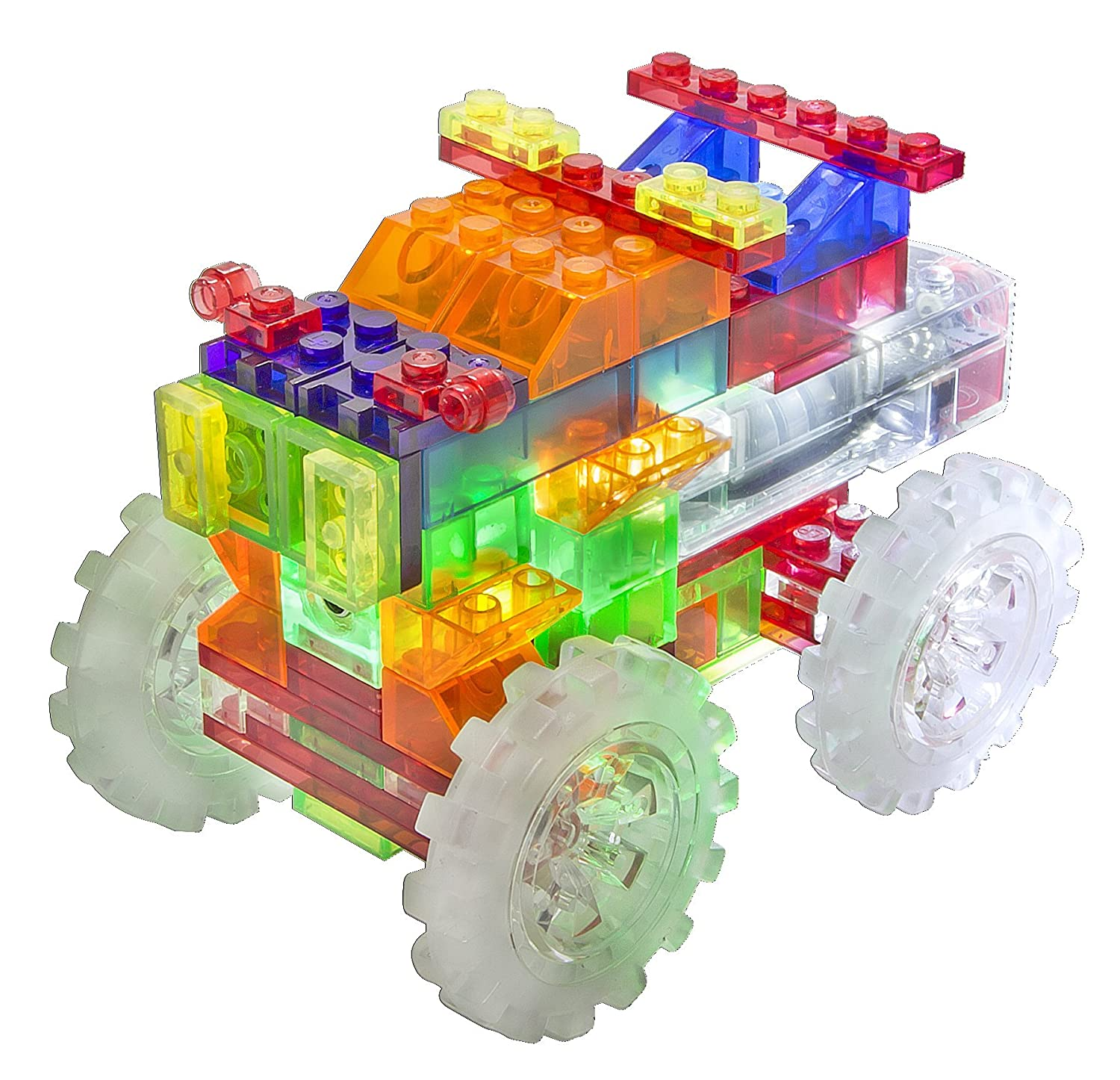 Amazon Laser Pegs 6 in 1 Monster Truck Building Set Toys & Games