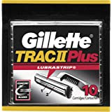 Gillette TRAC II Plus Razor Blade Refill Cartridges - 10 Count (Pack of 2)