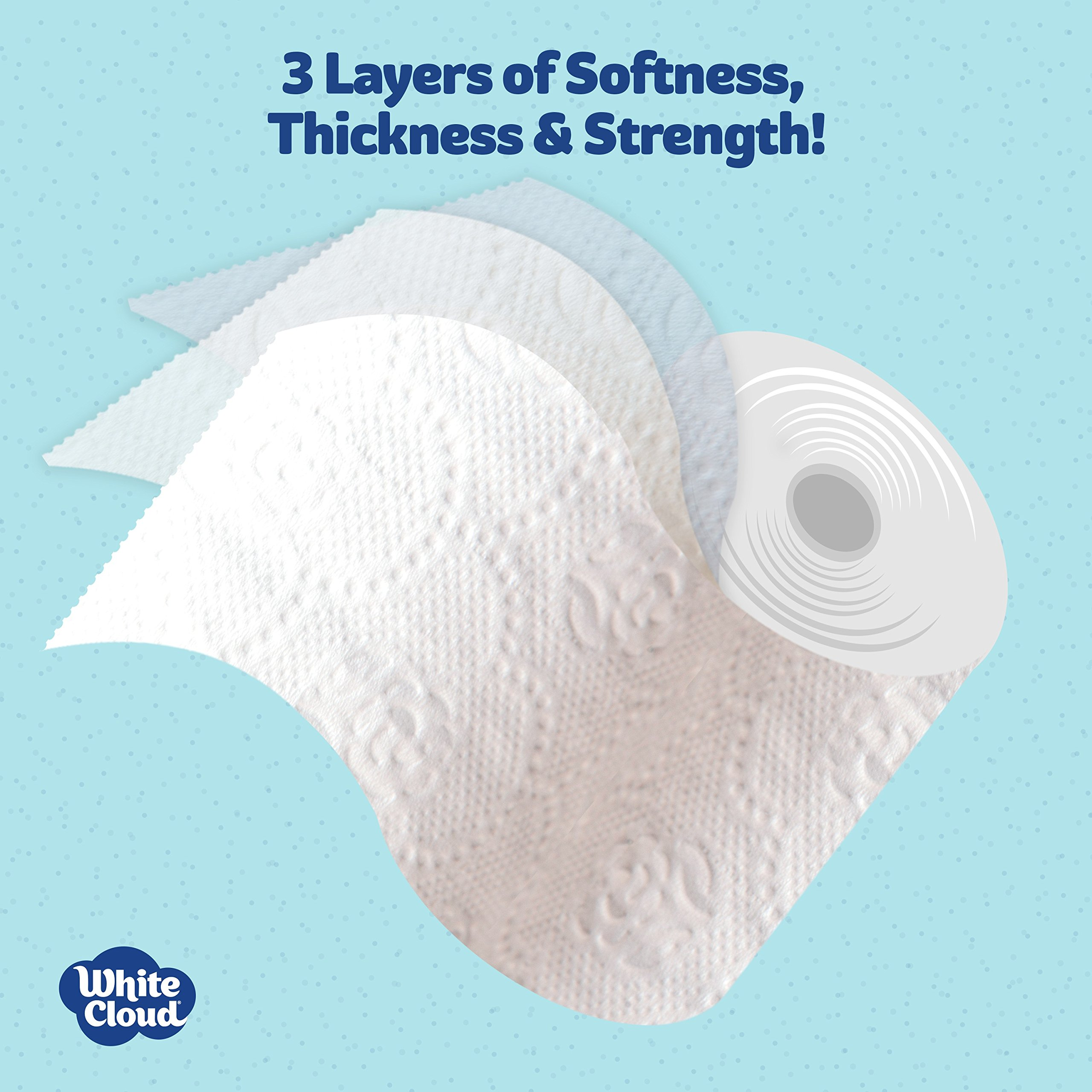 White Cloud Strong & Soft 2 Ply Toilet Paper, 48 Mega Rolls (Pack of 4 with 12 Rolls Each), 308 Sheets Per Roll by WHITE CLOUD