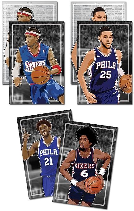 35e69415d Amazon.com  Oakley Graphics 3 Posters of Philadelphia 76ers   Sixers ...
