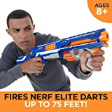 Nerf Rampage N-Strike Elite Toy Blaster with 25 Dart Drum Slam Fire & 25 Official Elite Foam Darts for Kids, Teens, & Adults