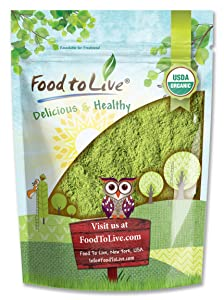 Organic Moringa Powder, 8 Ounces — Rich in , Non-GMO, Ground Moringa Oleifera Leaf, Raw, Sun-Dried, Vegan, Bulk, Great for Drinks, Teas and Smoothies